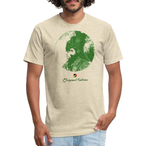 Original Kulture His and Her Majesty Green - Fitted Cotton/Poly T-Shirt by Next Level
