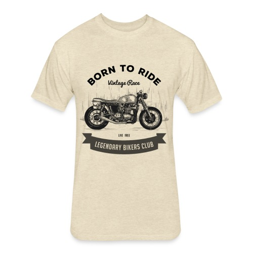 Born to ride Vintage Race T-shirt - Fitted Cotton/Poly T-Shirt by Next Level