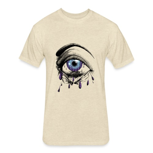 Lightning Tears - Fitted Cotton/Poly T-Shirt by Next Level