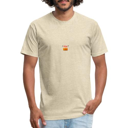 Royal King Design - Fitted Cotton/Poly T-Shirt by Next Level