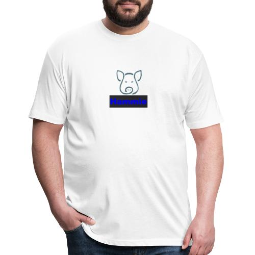 Hammie Logo with Brand Name - Fitted Cotton/Poly T-Shirt by Next Level