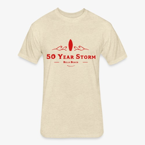50 Year Storm - Fitted Cotton/Poly T-Shirt by Next Level