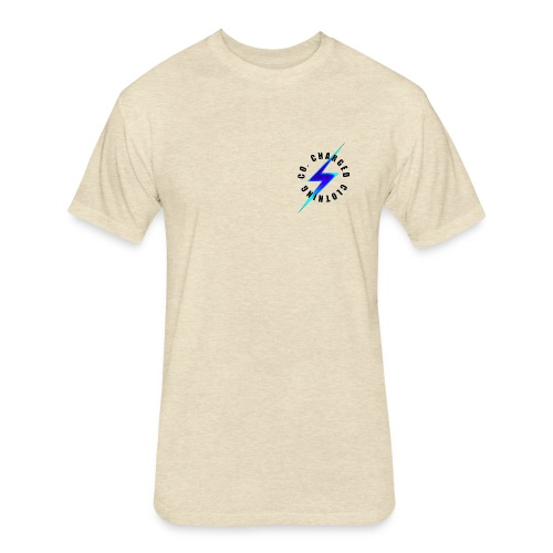 Blue Charged Range - Fitted Cotton/Poly T-Shirt by Next Level