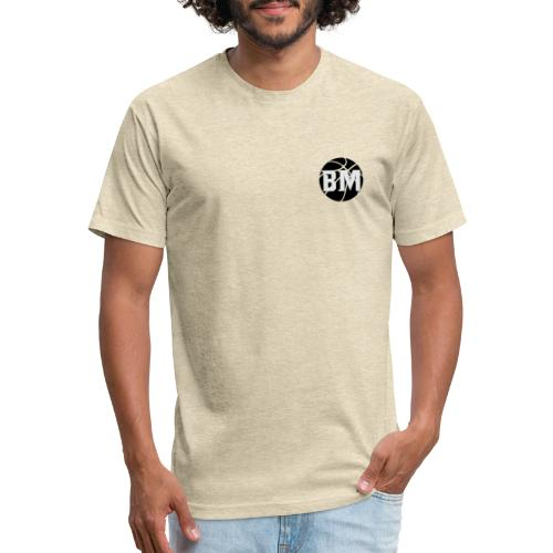 BM Basketball - Fitted Cotton/Poly T-Shirt by Next Level