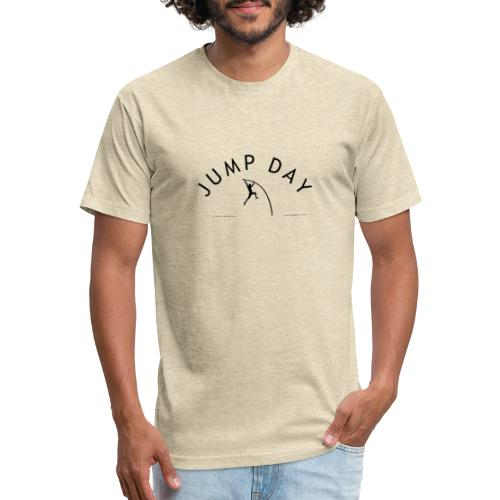 Mens Polevault Jump Day - Fitted Cotton/Poly T-Shirt by Next Level