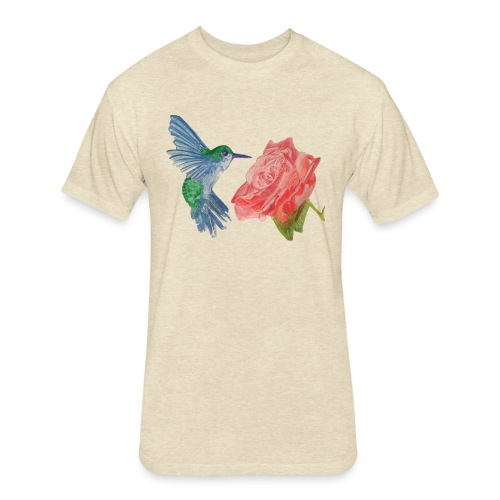 Hummingbird - Fitted Cotton/Poly T-Shirt by Next Level