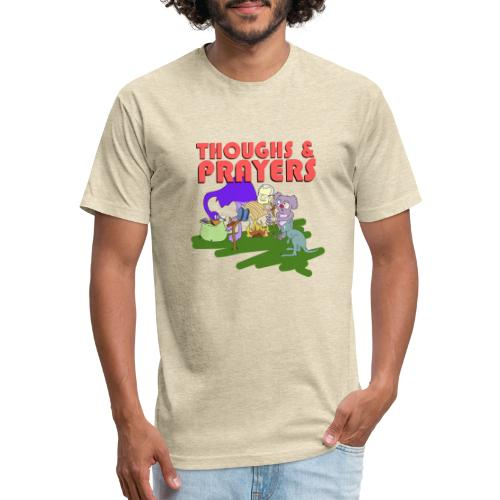 Thoughts & Prayers - Fitted Cotton/Poly T-Shirt by Next Level