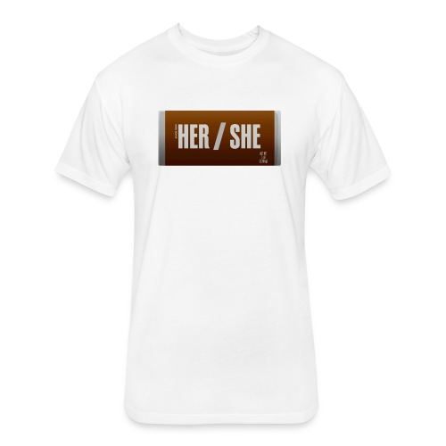 Her/She Bar! - Fitted Cotton/Poly T-Shirt by Next Level