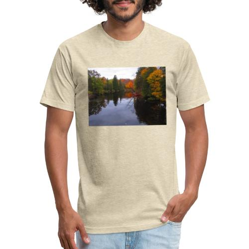 Nature Coffee Cup - Fitted Cotton/Poly T-Shirt by Next Level