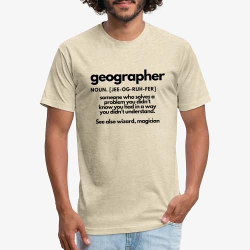 geographer - Fitted Cotton/Poly T-Shirt by Next Level
