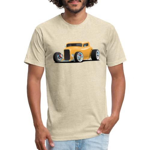 Classic American 32 Hotrod Car Illustration - Fitted Cotton/Poly T-Shirt by Next Level