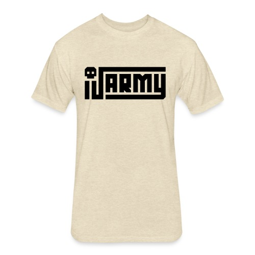 iJustine - iJ Army Logo - Fitted Cotton/Poly T-Shirt by Next Level