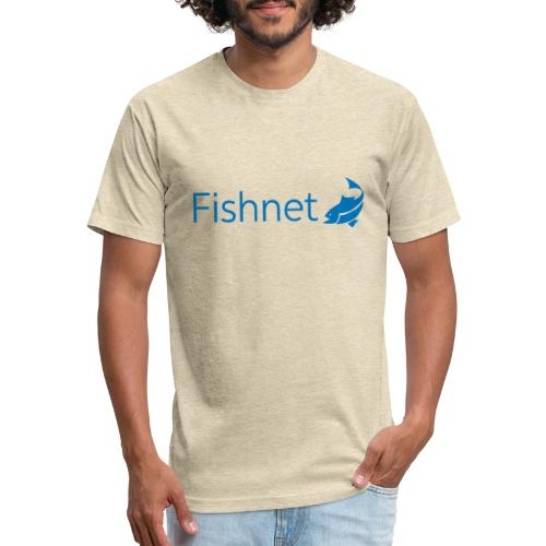 Fishnet (Blue) - Fitted Cotton/Poly T-Shirt by Next Level