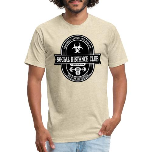 SOCIAL DISTANCE CLUB - Fitted Cotton/Poly T-Shirt by Next Level