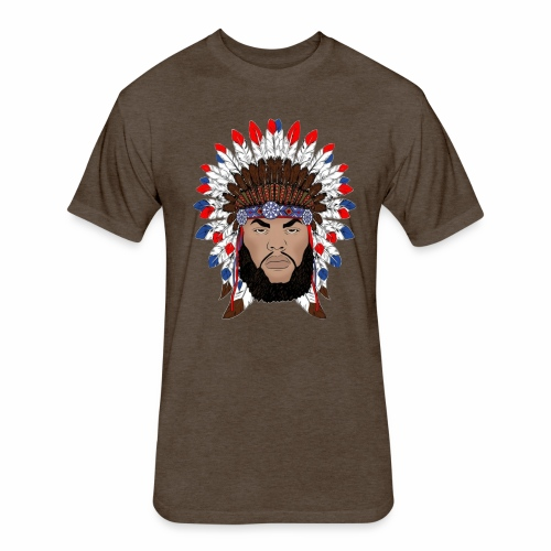 Dane Calloway American Indian Logo - Fitted Cotton/Poly T-Shirt by Next Level