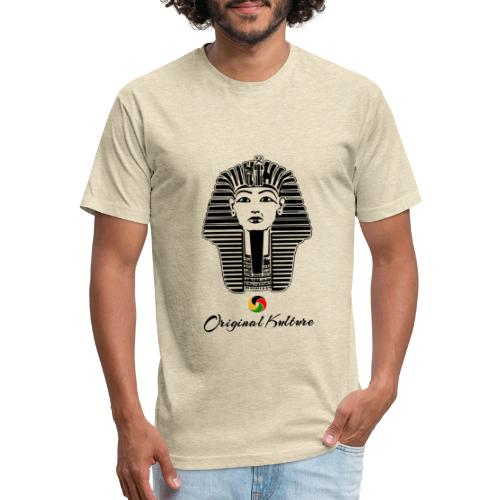 Original Kulture Kemet Mask Print - Fitted Cotton/Poly T-Shirt by Next Level