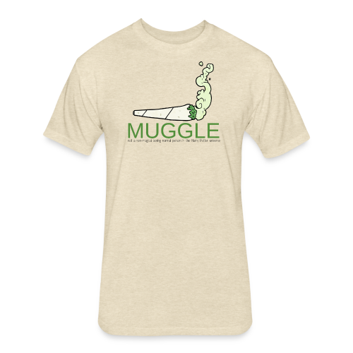 Muggle - Fitted Cotton/Poly T-Shirt by Next Level