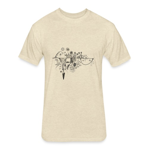 Grit Harbour Logo shirt - Fitted Cotton/Poly T-Shirt by Next Level