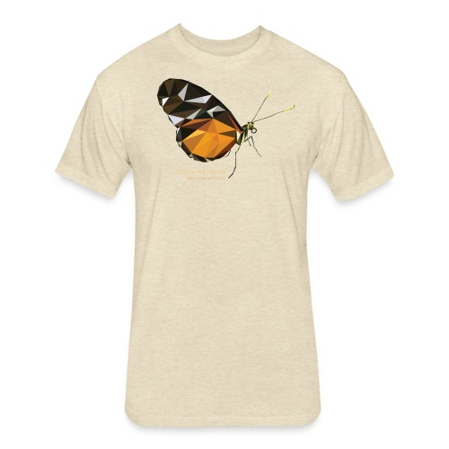 poligon_butterfly_1 - Fitted Cotton/Poly T-Shirt by Next Level