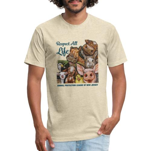 Respect All Life - Fitted Cotton/Poly T-Shirt by Next Level