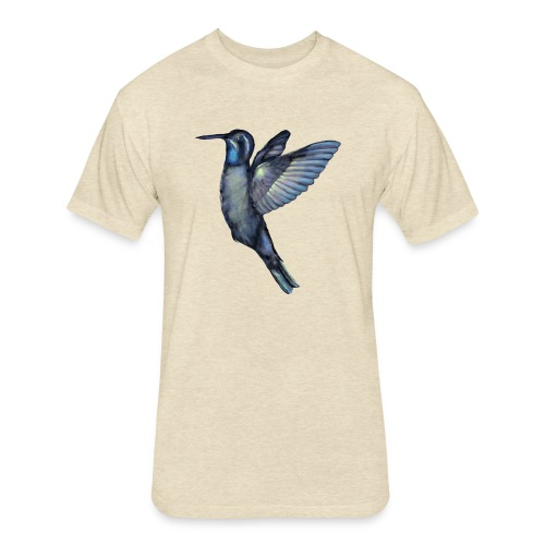 Hummingbird in flight - Fitted Cotton/Poly T-Shirt by Next Level