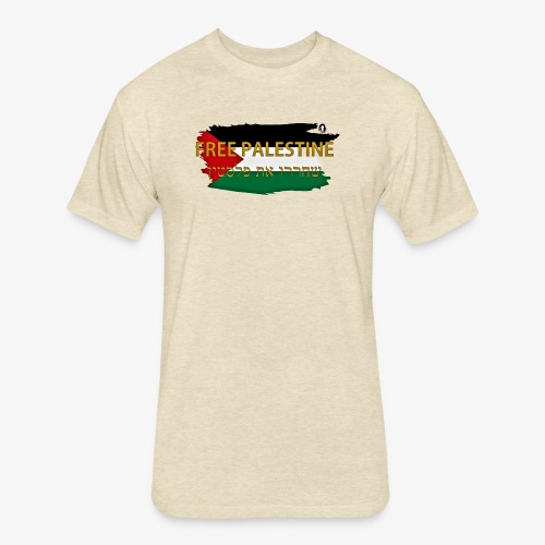 Free Palestine - Fitted Cotton/Poly T-Shirt by Next Level