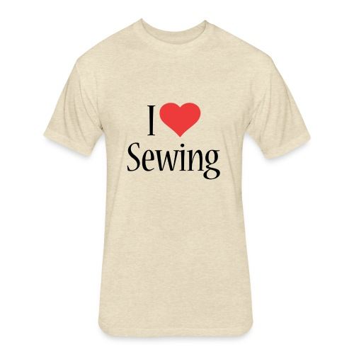 I Love Sewing - Fitted Cotton/Poly T-Shirt by Next Level