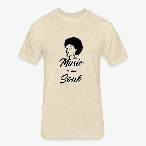 Music Is My Soul - Fitted Cotton/Poly T-Shirt by Next Level