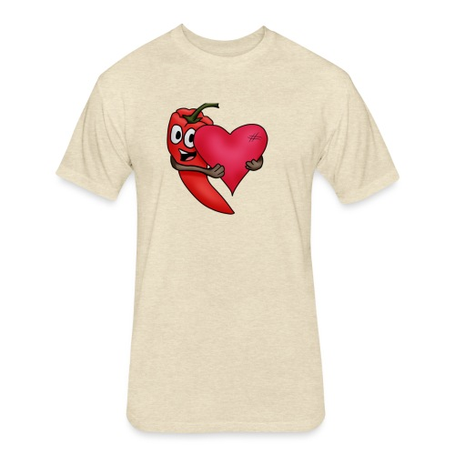 Chilliheart - Fitted Cotton/Poly T-Shirt by Next Level