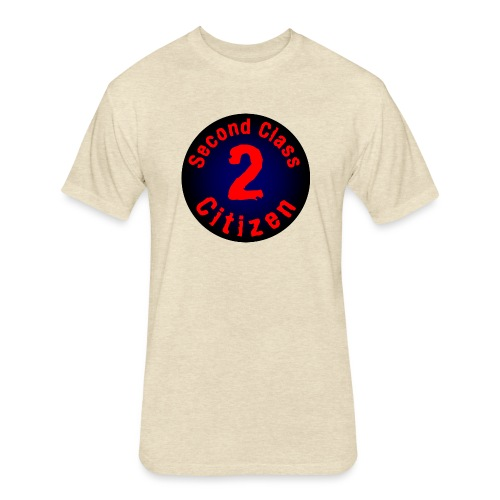 2nd Class Citizen Logo (Dark) - Fitted Cotton/Poly T-Shirt by Next Level