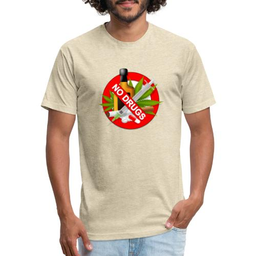 drug clipart drug addiction - Fitted Cotton/Poly T-Shirt by Next Level