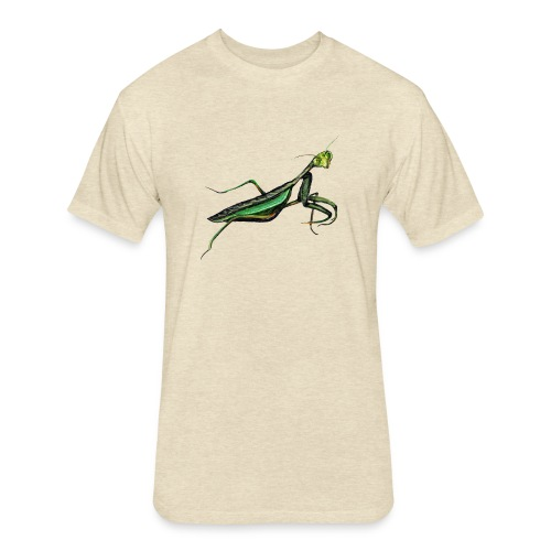 Praying mantis - Fitted Cotton/Poly T-Shirt by Next Level