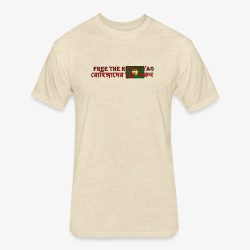 Free the Rohingya - Fitted Cotton/Poly T-Shirt by Next Level