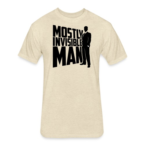 Mostly Invisible Man Logo - Fitted Cotton/Poly T-Shirt by Next Level