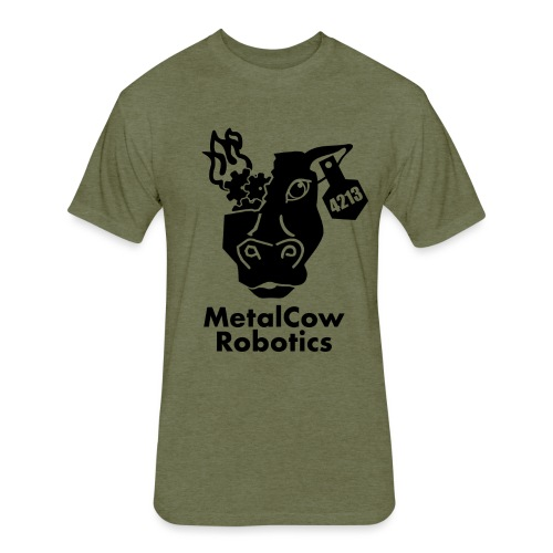 MetalCow Solid - Fitted Cotton/Poly T-Shirt by Next Level