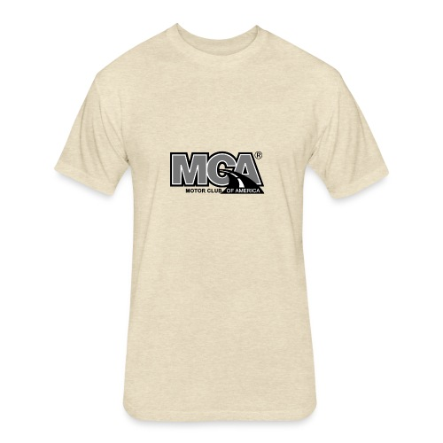 MCA Logo WBG Transparent BLACK WHITE TITLEfw fw pn - Fitted Cotton/Poly T-Shirt by Next Level