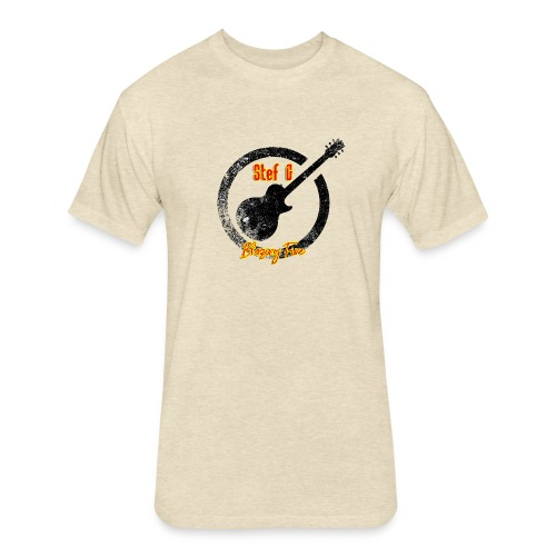 Stef G - Blazing Fire Design 1 - Fitted Cotton/Poly T-Shirt by Next Level