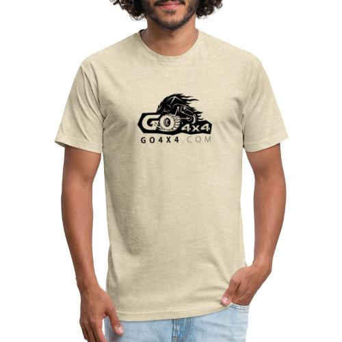 go bw white text black - Fitted Cotton/Poly T-Shirt by Next Level