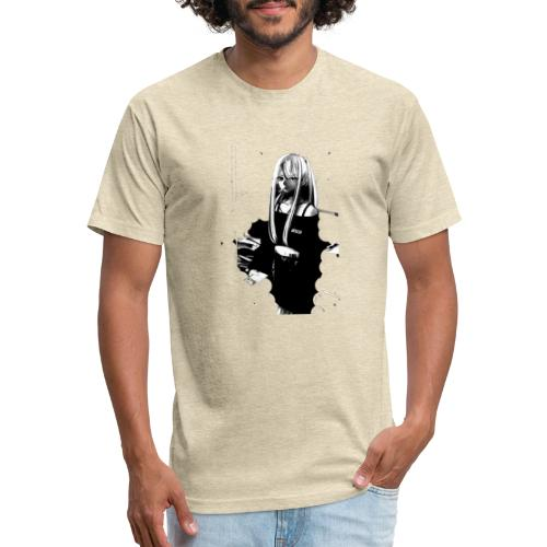 Stay Safe - Fitted Cotton/Poly T-Shirt by Next Level