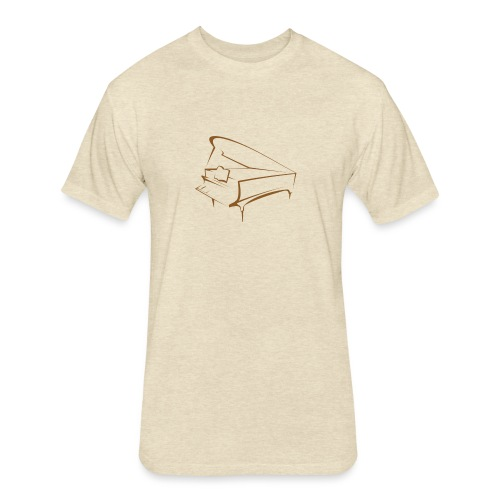 piano - Fitted Cotton/Poly T-Shirt by Next Level