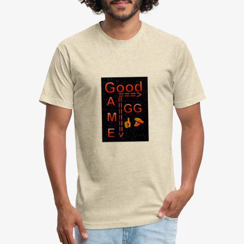 Good Game GG - Fitted Cotton/Poly T-Shirt by Next Level