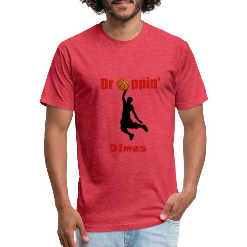 Basketball tshirt  Dropping Dimes  Dunk - Fitted Cotton/Poly T-Shirt by Next Level