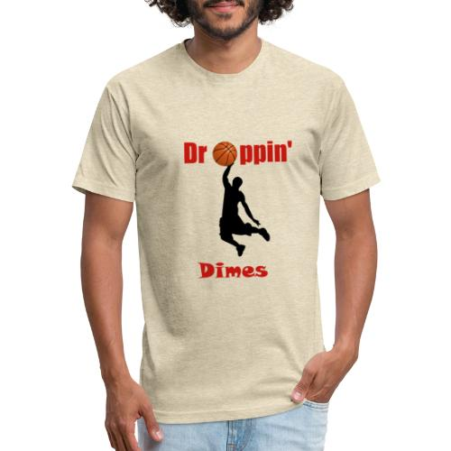 Basketball tshirt| Dropping Dimes |Dunk - Fitted Cotton/Poly T-Shirt by Next Level