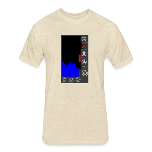 Lazy Eye Blocks - Play - Fitted Cotton/Poly T-Shirt by Next Level