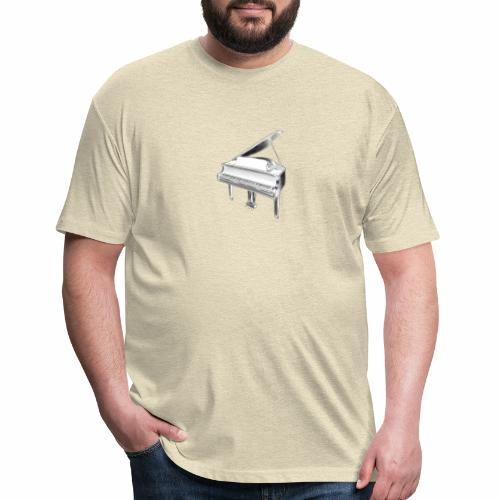 Piano white - Fitted Cotton/Poly T-Shirt by Next Level