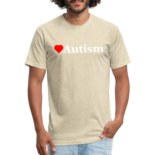 Heart Autism w - Fitted Cotton/Poly T-Shirt by Next Level