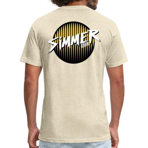 Simmer Room - Yellow Drip - Fitted Cotton/Poly T-Shirt by Next Level