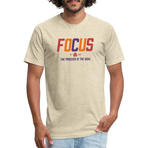 FOCUS - in TechniColor - Fitted Cotton/Poly T-Shirt by Next Level