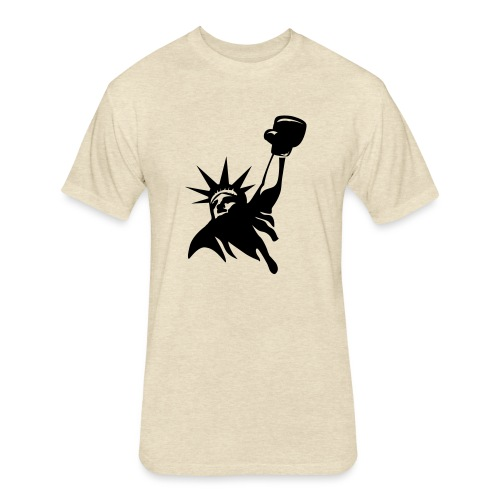 Lady Liberty Design w/ Black RSB Logo - Fitted Cotton/Poly T-Shirt by Next Level