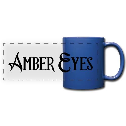 AMBER EYES LOGO IN BLACK - Full Color Panoramic Mug